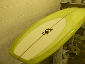 resin tint longboard - Tim Stafford Surfboards