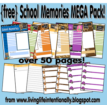 free school memory pages for kids