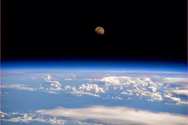 moonrise from the ISS