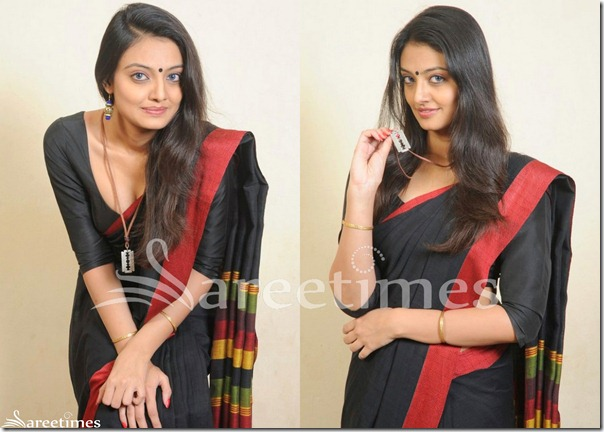 Nikitha_Narayan_Black_Saree