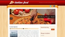 Italian food blogger template 225x128