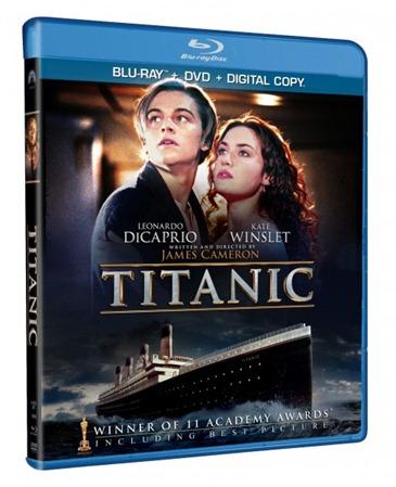 Titanic 3D Bluray DVD Combo