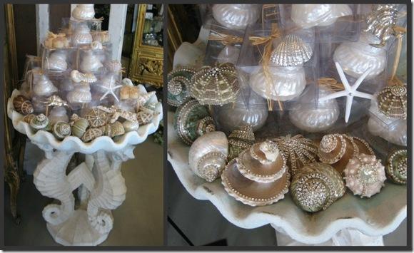 Shells in Bird Bath collage
