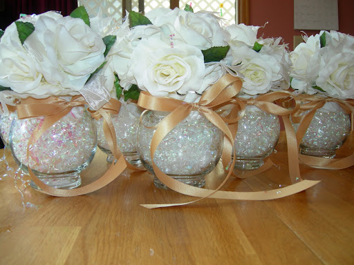 Wedding reception table decorations archives 50th for 50 wedding anniversary decoration ideas
