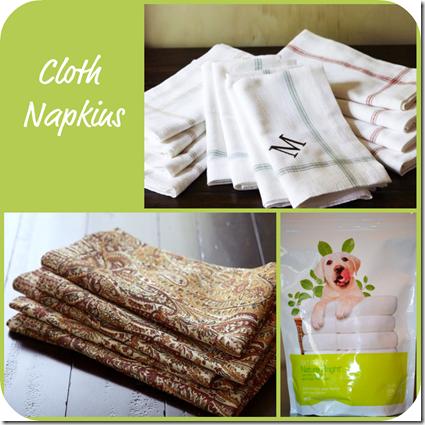 Cloth Napkin Collage