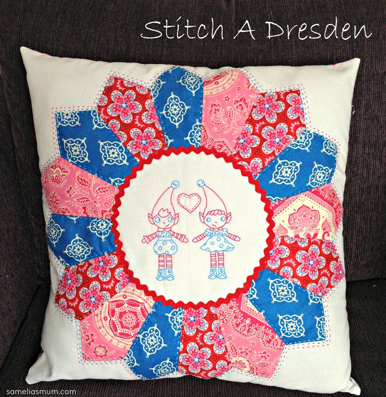 Stitched Dresden Pillow