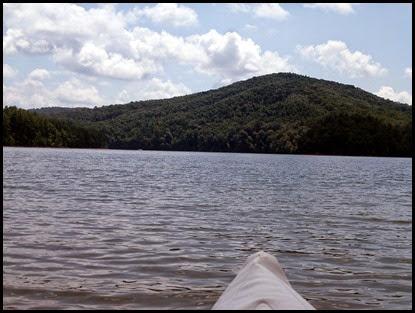 19d - Tuesday - Nottely Lake Kayak - Poteete Creek Rec Area - heading across Lake Nottely