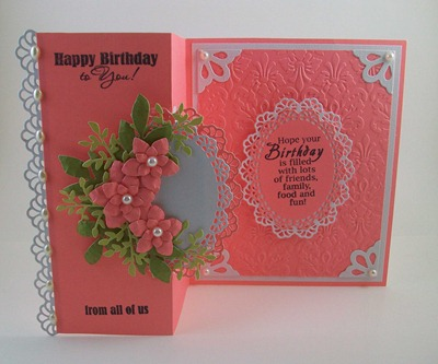 Coral Phlox Flowers Birthday Card1