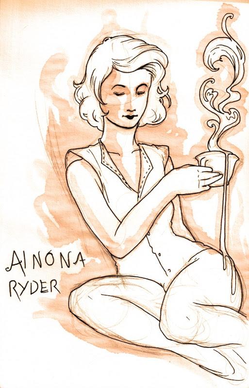 sketch do dia - ainona ryder