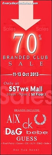 SSTwo Mall Branded Club Sale Fashion 2013 Malaysia Deals Offer Shopping EverydayOnSales