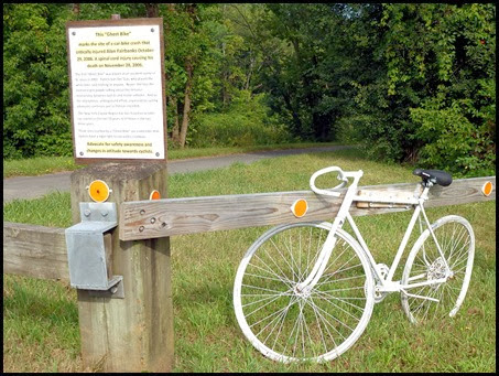 02e - Mohawk River (Erie Canal) Bike Trail heading NW - ghost bike