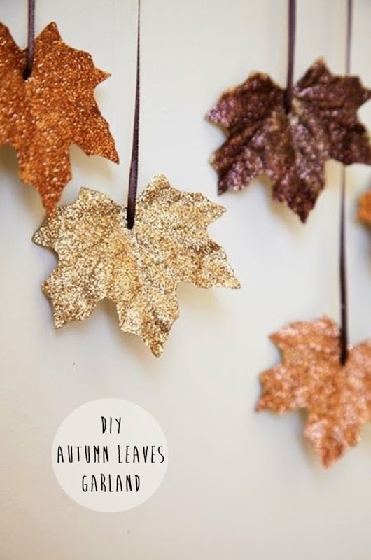 Glitter Leaves Garland