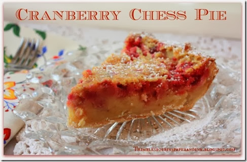 Cranberry Chess Pie slice
