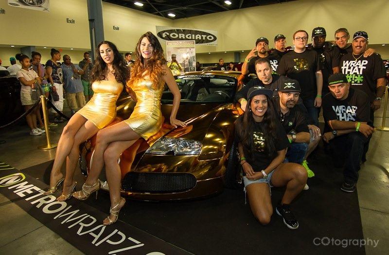 """rapper flo rida buys gold chrome-wrapped bugatti veyron to """"floss"""
