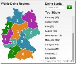 Wahl der Region