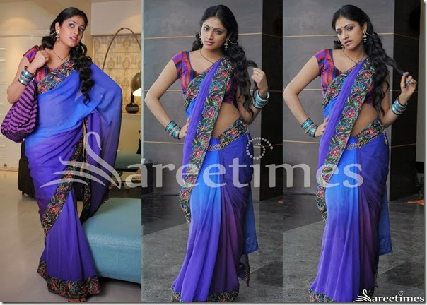 Hari_Priya_Blue_Georgette_Saree