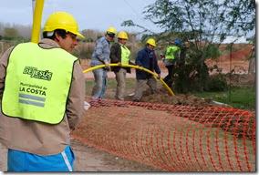 Informe de avance de la red de gas, cloacas y agua en el distrito