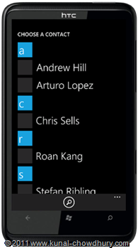 WP7.1 Demo - Phone Number Chooser Task