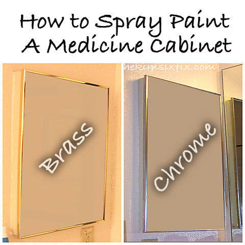 How to Spray Paint Medicine Cabinet