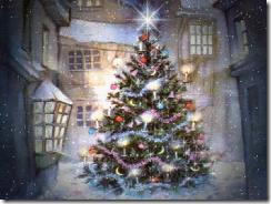 Christmas tree sparkling