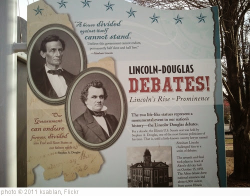 'Sign: Lincoln-Douglas debates' photo (c) 2011, ksablan - license: https://creativecommons.org/licenses/by-sa/2.0/