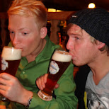 beer drinking in Seefeld, Tirol, Austria