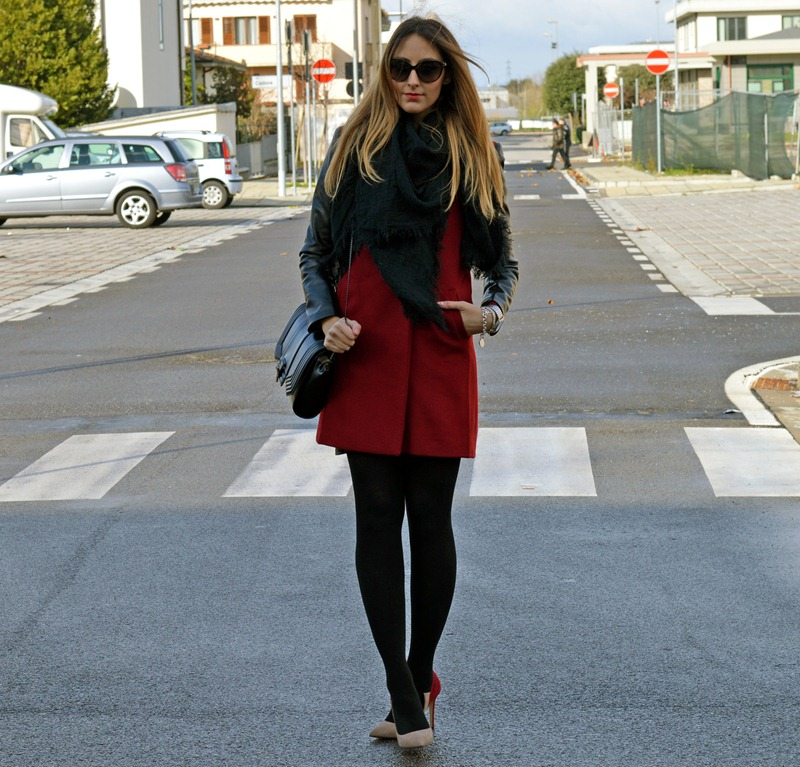 Sheinside, Cappotto Rosso, Red Coat, Semilla, Zara Bag, Zara, Calzedonia, Calzedonia tights, fashion blogger, italian fashion blogger, fashion blogger italiane, fashion blogger firenze