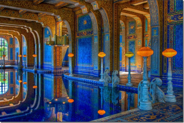 hearst castle indoor roman pool