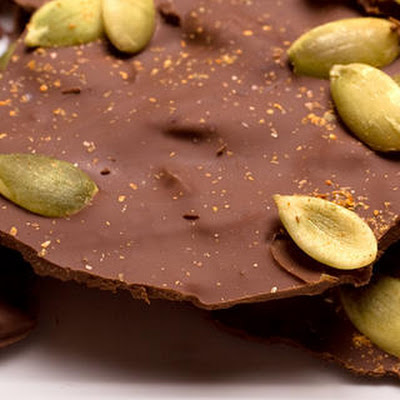 Chocolate-Toffee–Pumpkin Seed Bark