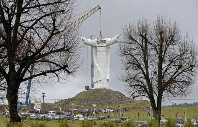 World's largest Jesus Christ Statue in Swiebodzin(Poland)