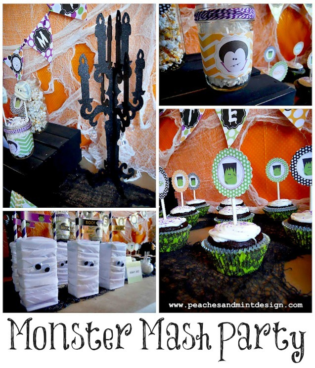 Monster Mash Party by Peaches and Mint