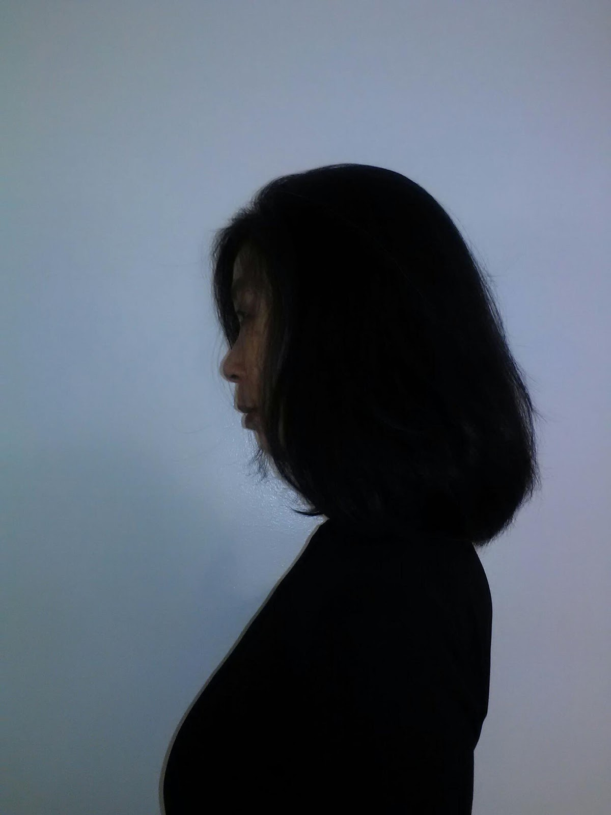 The Coiffure Fontange Caecile Long Layer Cut Debulking Fringe Before