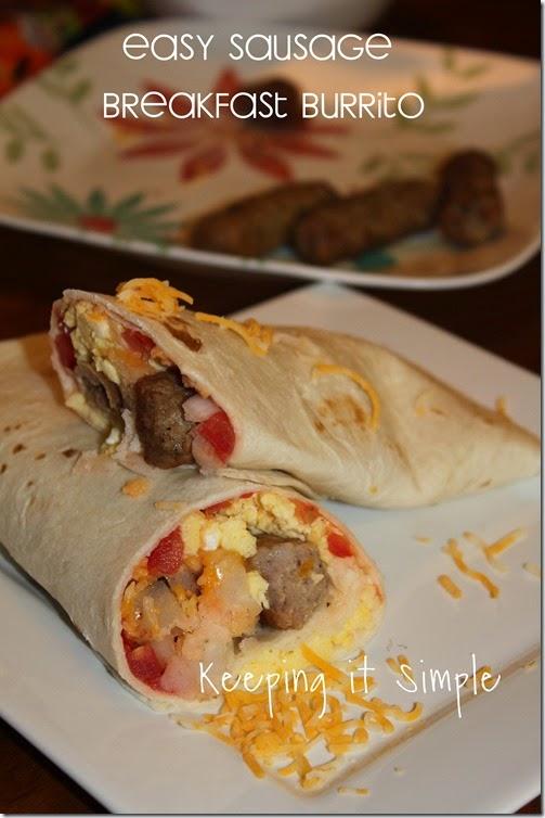 Easy Sausage Breakfast Burrito #BringHillshireHome