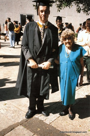 Michael - MCogSc Graduation 1993 - with Marj-2