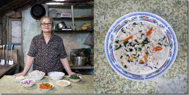 Carmen Alora, 70 years old, El Nido, Philippines. Kinunot, hark in coconut soup