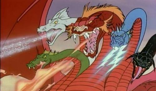 Dragões Tiamat Caverna do Dragão Fantasia BR