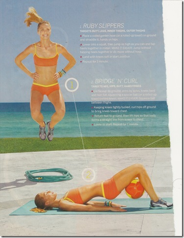 Bridge 'N' Curl from Fitness Magazine