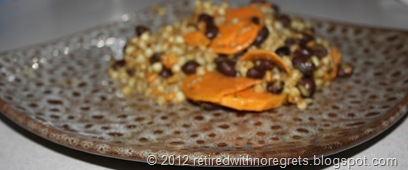 Buckwheat Groats Black Beans & Sweet Potato Pilaf - served II