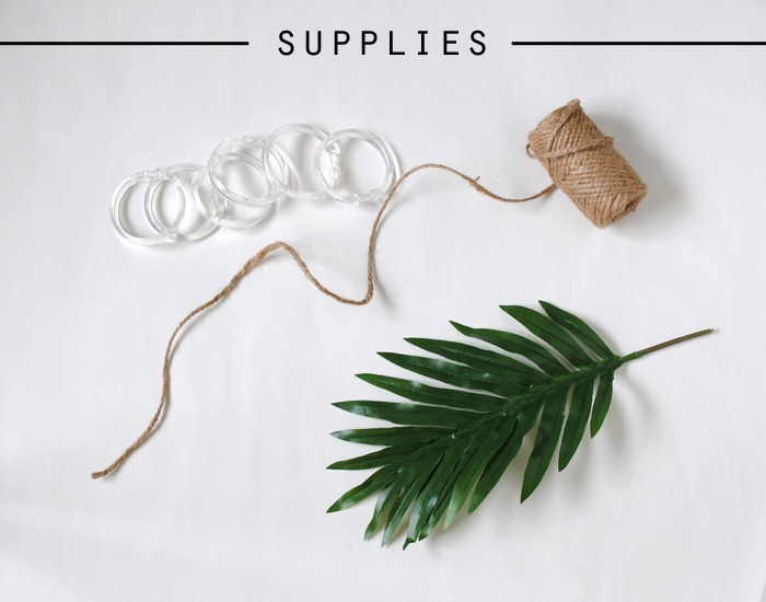 zara home knockoff leaf napkin rings supplies2