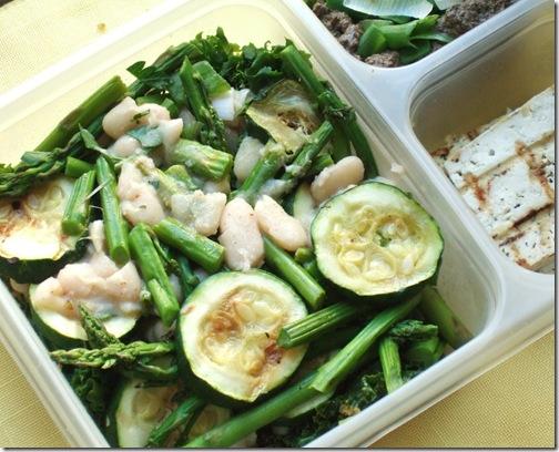 raw foods & grilled veggie salad 018
