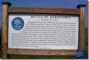 Another Battle of Kernstown marker at the site with state marker A-9