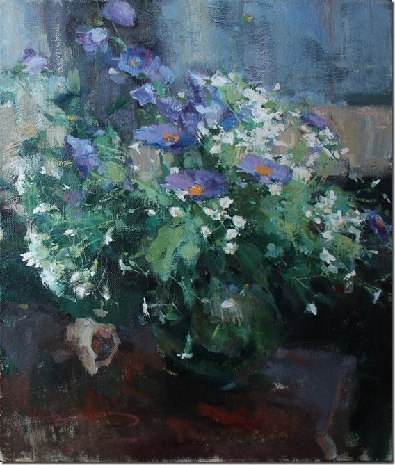 Still life with purple flowers-Vadim-Suvorov-ENKAUSTIKOS
