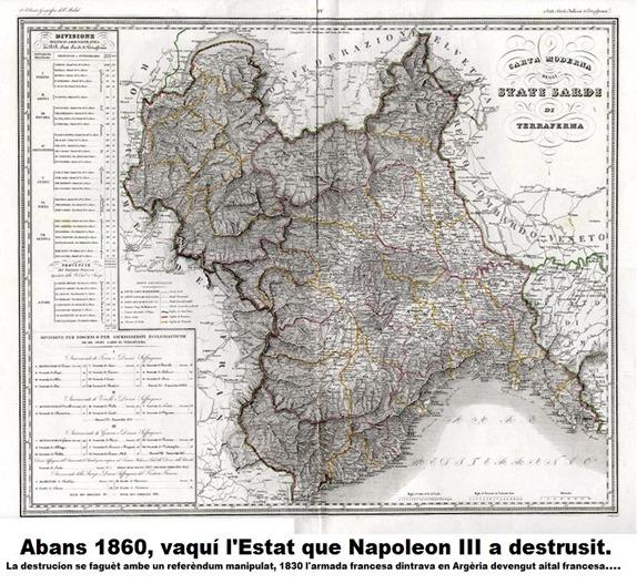 Mapa de reialme de Piemont