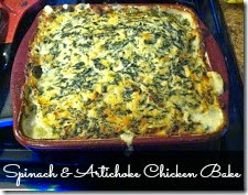 Many Waters Spinach and Artichoke Chicken Bake