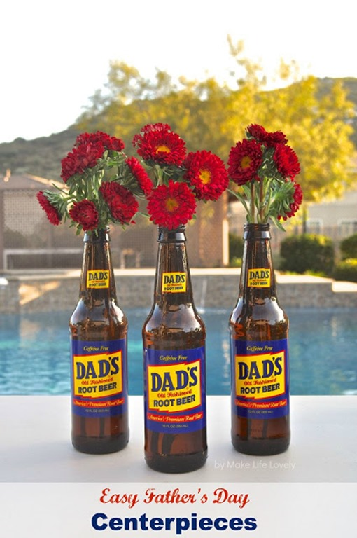 Father's Day Floral Boquet Centerpieces, by Make Life Lovely