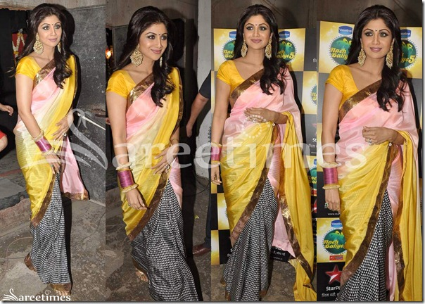 Shilpa_Shetty_Half_and_Half_Saree