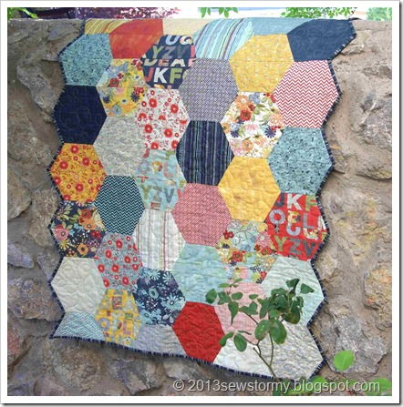 PB&J Half Hexagon Quilt