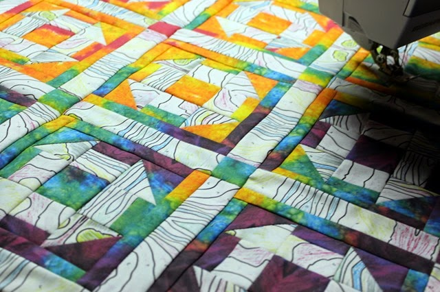 chubby churn dash quilt top