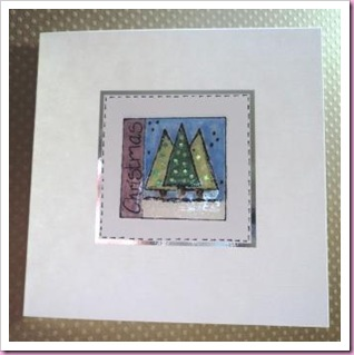 Stamped Christmas Tree Card 1