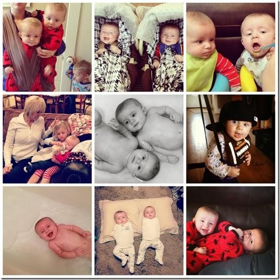 six month twins